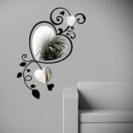 Kalp Stickerlı Ayna dekoratif sticker kırılmaz aynalar modelleri
