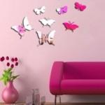 Kelebekler art house markalı dekoratif aynalar