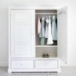 modern minimal beyaz portmanto vestiyer modelleri