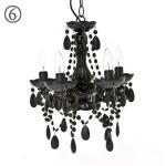 bun design siyah küçük taşlı avize ev oda salon aydınlatması