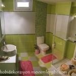 fıstık yeşili banyo modeli ve duşakabin