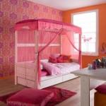 pembe beyaz cibinlikli yatak modelleri