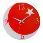 Türk bayrağı duvar saati