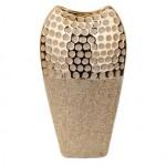yaldızlı varaklı seramik vazo