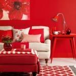 kırmızı beyaz dekorasyonlar