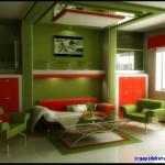 uyumlu renkler kırmızı yeşil eşyalar