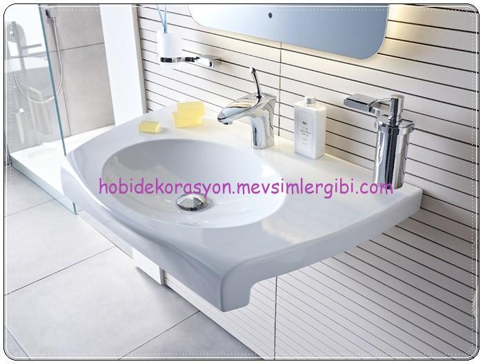 banyo dekorasyonu Creavit Slam Lavabo TP080 modelleri seramik lavabolar