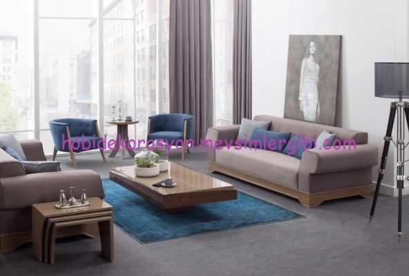 Modern Salon Dekorasyonu Icin Medusa Koltuk Takimi Hobiler